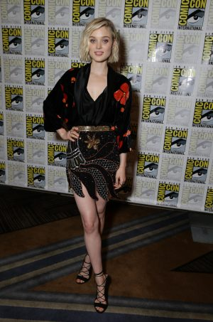 Bella Heathcote at the 2015 Comic-Con in San Diego. ©Screen Gems. CR: Eric Charbonneau/Invision for Screen Gems]/AP Images.