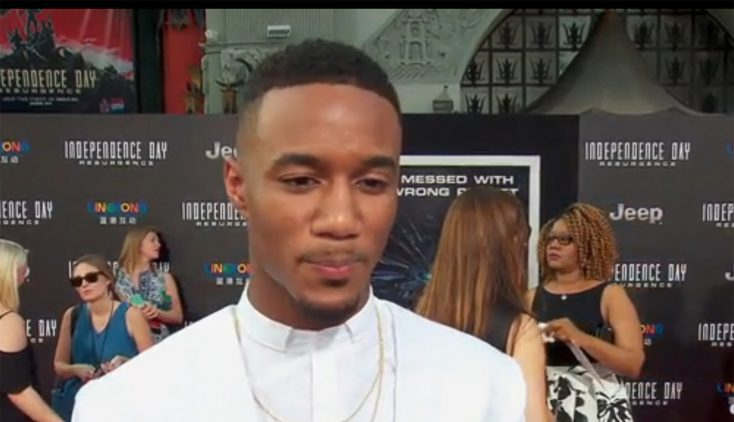 "Jessie T. Usher Powers Through ""Independence Day: Resurgence"""
