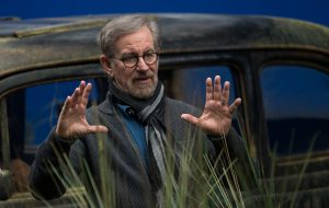 Director Steven Spielberg on the set of Disney's THE BFG, ©Storyteller Distribution Co, LLC CR: Doane Gregory.