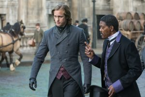 (l-r) Alexander Skarsgard as John Clayton/Tarzan and Samuel L. Jackson as George Washington Williams. ©Warner Bros. Entertainment. CR: Jonathan Olley.
