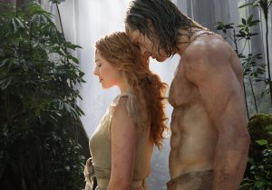 (l-r) Margot Robbie as Jane and Alexander Skarsgard as John Clayton/Tarzan in TARZAN. ©Warner Bros. Entertainment. CR: Jonathan Olley.