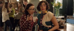 (l-r) Janeane Garofalo and Negin Farsad in 3RD STREET BLACKOUT. ©3rd Street Blackout.