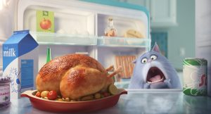 Chloe (LAKE BELL) is a fat cat  in THE SECRET LIFE OF PETS. ©Illumination Entertainment/Universal Pictures.
