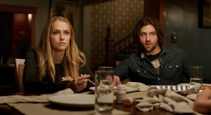 (l-r) Teresa Palmer as Rebecca and Alexander Dipersia as Bret in LIGHTS OUT. ©Warner Bros. Entertainment.