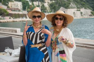 "Joanna Lumley as ""Patsy"" and Jennifer Saunders as ""Edina"" in the film ABSOLUTELY FABULOUS: THE MOVIE. P©20th Century Fox. CR: David Appleby."