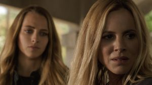 (l-r) Teresa Palmer and Maria Bello stars in LIGHTS OUT. ©Wanrer Bros. Entertainment.
