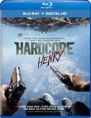 HARDCORE HENRY. (DVD Artwork). ©Universal Studios Home Entertainment.