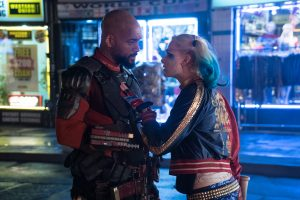 (l-r) Will Smith as Deadshot and Margot Robbie as Harley Quinn in SUICIDE SQUAD. ©Warner Bros.  Entertainment/Ratpac Entertainment. CR: Clay Enos.