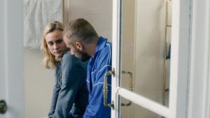 Diane Krueger and Matthias Schoenaert stars in DISORDER. ©IFC Films.