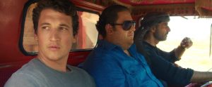 L-r) MILES TELLER as David, JONAH HILL as Efraim and SHAUN TOUB as Marlboro in Warner Bros. Pictures' comedic drama (based on true events) WAR DOGS. ©Warner Bros. Entertainment.