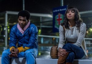 Usher Raymond and Jurnee Smollett-Bell star in HANDS OF STONE. ©The Weinstein Co. CR: Rico Torres.
