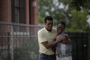 Parker Sawyers and Tika Sumpter in SOUTHSIDE WITH YOU. ©Miramax/Roadside Attractions. CR: Pat Scola