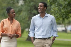 Tika Sumpter and Parker Sawyers in SOUTHSIDE WITH YOU. ©Miramax/Roadside Attractions. CR: Matt Dinerstein