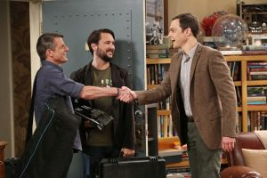(l-r) Adam Nimoy, Wil Wheaton and Jim Parson in THE BIG BANG THEORY episode, THE SPOCK RESONANCE. ©WBEI.  CR: Michael Yarish/Warner Bros. Entertainment Inc.