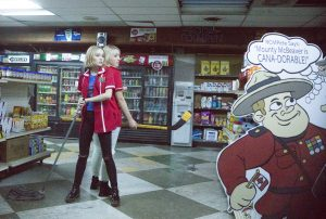 (l-r) Lily-Rose Depp and Harley Quinn Smith in YOGA HOSERS. ©Yoga-Hosers, LLC. CR: Holly Stein.