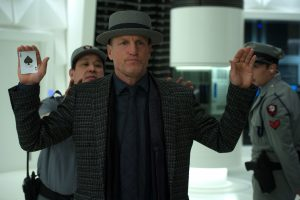 "Woody Harrelson stars ar ""Merritt McKinney"" in Jon M. Chu's NOW YOU SEE ME 2. ©Lionsgate. CR: Jay Maidment."