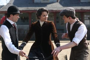 Bug Hall (left) stars in HARLEY AND THE DAVIDSONS. ©Discovery Communications. CR: Keith Bernstein.