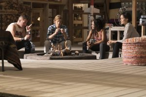 (l-r) George Eads, Lucas Till, Tristin Mays and Sandrine Holt star in MACGYVER  ©CBS Broadcasting. CR: Annette Brown/CBS .