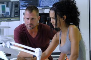 (l-r) George Eads and Tristin Mays star in MACGYVER. ©CBS Broadcasting. CR: Guy D'Alema/CBS.
