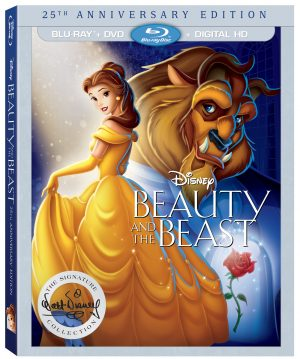 BEAUTY AND THE BEAST 25TH ANNIVERSARY EDITION. (DVD Artwork). ©Walt Disney Studios.