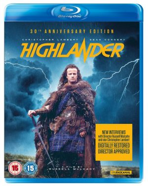 HIGHLANDER 30TH ANNIVERSARY EDITION. (DVD Artwork). ©Lionsgate.