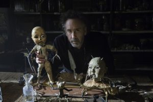 Director Tim Burton on the set of MISS PEREGRINE'S HOME FOR PECULIAR CHILDREN. ©20th Century Fox. CR: Leah Gallo.