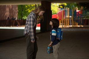 Gilly Hopkins (Sophie Nélisse) and W.E. (Zachary Hernandez) in THE GREAT GILLY HOPKINS. ©Lionsgate Premiere.
