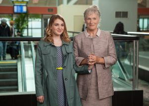 Gilly Hopkins (Sophie Nélisse,left) and Nonnie Hopkins (Glenn Close, right) in THE GREAT GILLY HOPKINS. ©Lionsgate Premiere.