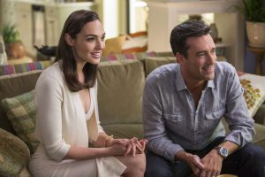 "The impossibly gorgeous and ultra-sophisticated newly-arrived suburban couple, Mr. and Mrs. ""Jones"" (Gal Gadot, Jon Hamm), are actually covert operatives in KEEPING UP WITH THE JONESES. ©20th Century Fox. CR: Frank Masi, SMPSP."