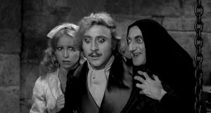 (l-r) Madeline Kahn, Gene Wilder and Marty Feldman in YOUNG FRANKENSTEIN. ©20th Century Fox.
