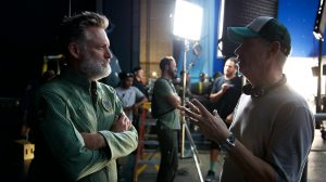 Bill Pullman (left) on the set of NDEPENDENCE DAY RESURGENCE. ©20th Century Fox. CR: Claudette Barius.