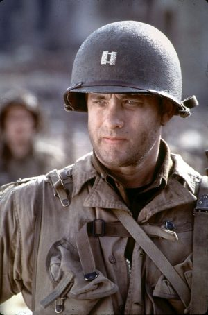 Tom Hanks in SAVING PRIVATE RYAN. ©Dreamworks.