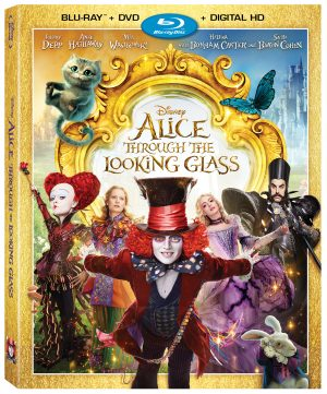 DISNEY ALICE THROUGH THE LOOKING GLASS. (DVD Artwork). ©Disney.