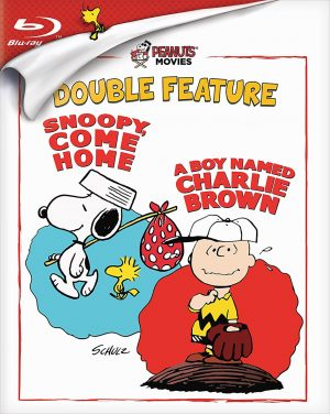 PEANUTS MOVIES DOUBLE FEATURE: SNOOPY, COME HOME; A BOY NAMED CHARLIE BROWN. (DVD Artwork). ©Paramount.