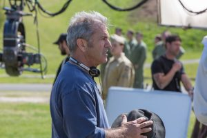 Director Mel Gibson on the set of HACKSAW RIDGE. ©Lionsgate. CR: Mark Rogers.