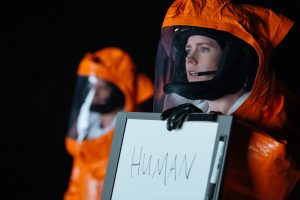 Amy Adams (right) as Louise Banks in ARRIVAL. ©Paramount Pictures. CR: Jan Thijs.