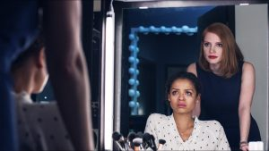 (Left to right.) Gugu Mbatha-Raw  and Jessica Chastain  star in EuropaCorp's MISS SLOANE. © 2016 EuropaCorp – France 2 Cinema.