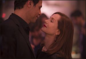 (l-r) Laurent Lafitte as Patrick, and Isabelle Huppert as Michèle in ELLE. ©Guy Ferrandis/ SBS Productions, Courtesy of Sony Pictures Classics