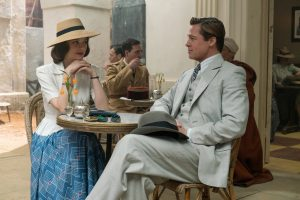 Brad Pitt plays Max Vatan and Marion Cotillard plays Marianne Beausejour in ALLIED. ©Paramount Pictures. CR: Daniel Smith.