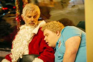 (l-r) Billy Bob Thornton stars as Willie Soke and Brett Kelly as Thurman Merman in BAD SANTA 2 ©Jan Thijs / Broad Green Pictures / Miramax