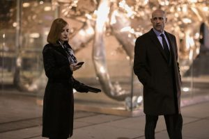 (Left to right.) Jessica Chastain  and Mark Strong  star in EuropaCorp's MISS SLOANE. ©EuropaCorp - France 2 Cinema. CR: Kerry Hayes.