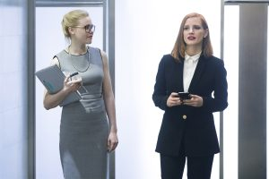 (Left to right.) Alison Pill and Jessica Chastain  star in MISS SLOANE. ©Kerry Hayes/EuropaCorp – France 2 Cinema