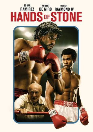 HANDS OF STONE. (DVD Artwork). ©Anchor Bay.
