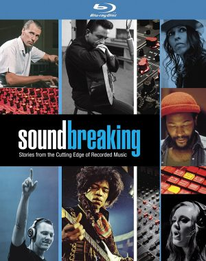 SOUNDBREAKING: STORIES FROM THE CUTTING EDGE OF RECORDED MUSIC. (DVD Artwork). ©Acorn Media.