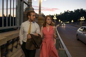 Sebastian (Ryan Gosling) and Mia (Emma Stone) in LA LA LAND. ©Lionsgate. CR: Dale Robinette.