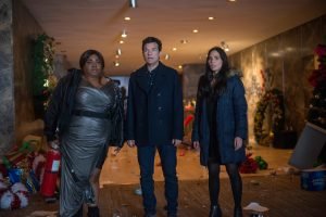 (L-R) Da'Vine Joy Randolph as Carla, Jason Bateman as Josh Parker and Olivia Munn as Tracey Hughes in OFFICE CHRISTMAS PARTY. ©Paramount Pictures. CR: Glen Wilson.