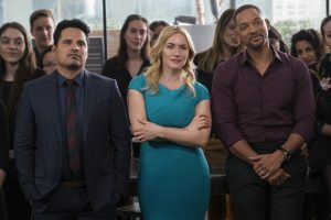 (l-r) Michael Pena, Kate Winslet and Will Smith star in COLLATERAL BEAUTY. ©Warner Bros. Entertainment. cR: Barry Wetcher.