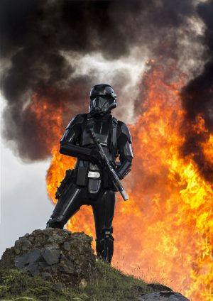 A Death Trooper in ROGUE ONE: A STAR WARS STORY. © 2016 Lucasfilm Ltd. CR: Jonathan Olley.