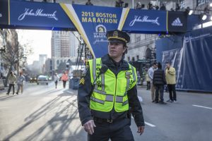 Mark Wahlberg on the set of Patriots Day directed by Peter Berg. ©CBS Films/Lionsgate. CR: Karen Ballard.