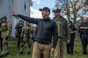 Director Pete Berg on the set of PATRIOTS DAY. ©CBS Films/Lionsgate. CR: Karen Ballard.